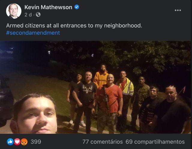 Post do advogado Kevin Mathewson