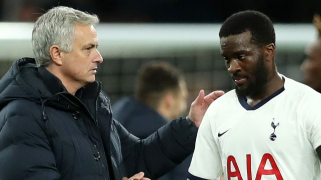 Tanguy Ndombele and Jose Mourinho