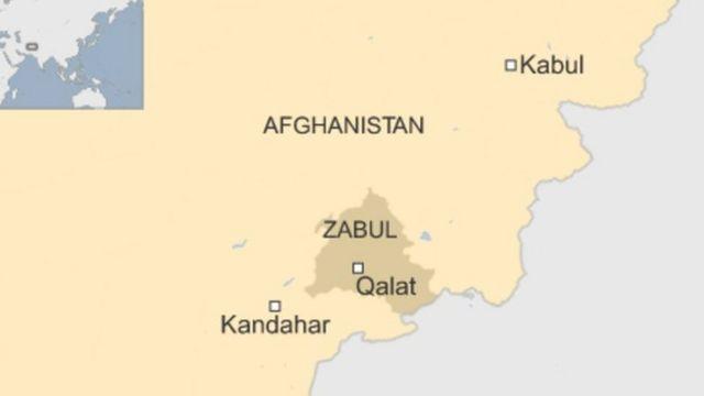 আফগানিস্তানের ম্যাপ।