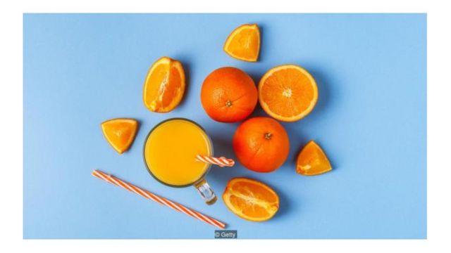 imagem de laranja e suco de laranja