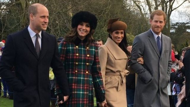 威廉王子夫婦、哈里王子和梅根