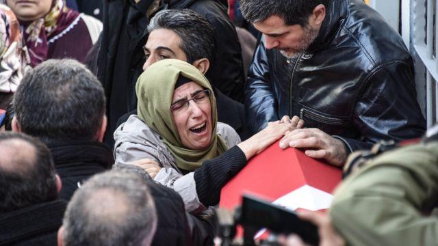 صورة لجنازة أحد ضحايا الهجوم