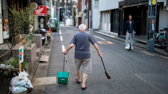Man cleaning his neighbourhood