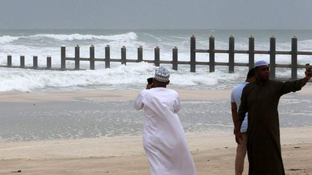 أحد الشواطئ في صلالة العمانية