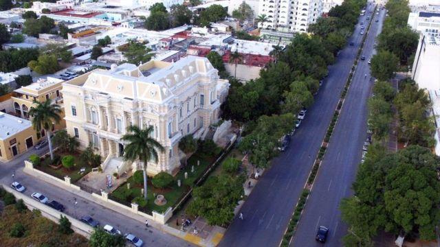 Paseo Montejo es la avenida emblemática de Mérida. (Foto: Ayuntamiento de Mérida)