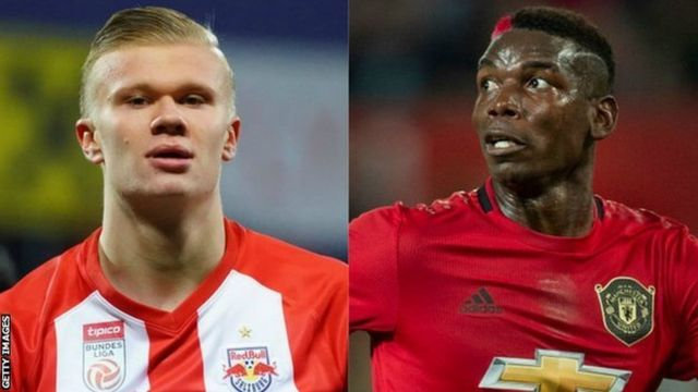 Erling Haaland and Paul Pogba