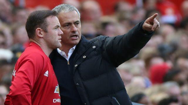Wayne Rooney, Jose Mourinho, Manchester United
