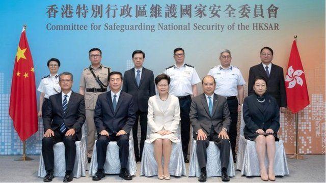 被制裁的一些中港官员。
