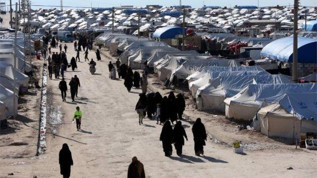 شمالی مشرقی شام میں الہول کیمپ