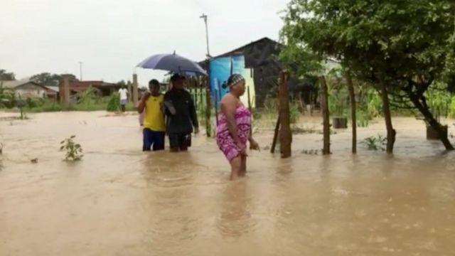 Inundaciones en Cartagena por el huracán Iota.