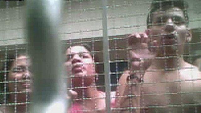Secret filming in Thai detention centre