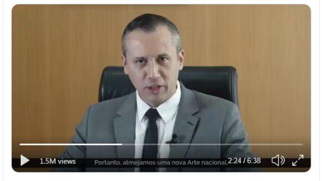 frame de vídeo da Secretaria Especial de Cultura