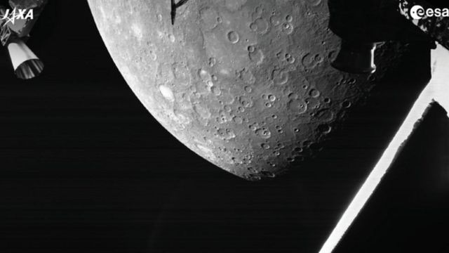 أول صورة لكوكب عطارد يتم إرسالها إلى كوكب الأرض من المهمة التابعة للاتحاد الأوروبي