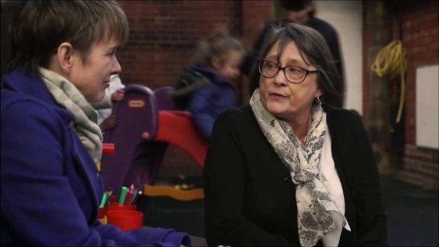 Emma Simpson talks to nursery owner Anita Bingham