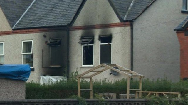The fire-damaged house in Prestatyn