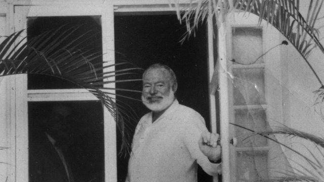 Ernest Hemingway at his finca in Cuba
