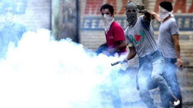 भारत प्रशासित कश्मीर में विरोध प्रदर्शन