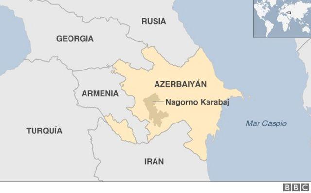 Mapa de la región del conflicto