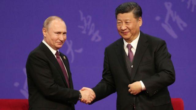 Rusya lideri Vladimir Putin ve Çin lideri Şi Jinping
