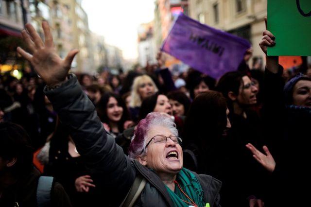 İstanbul'da protesto