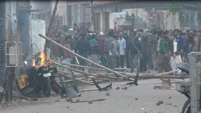 रामपुर में हुई हिंसा
