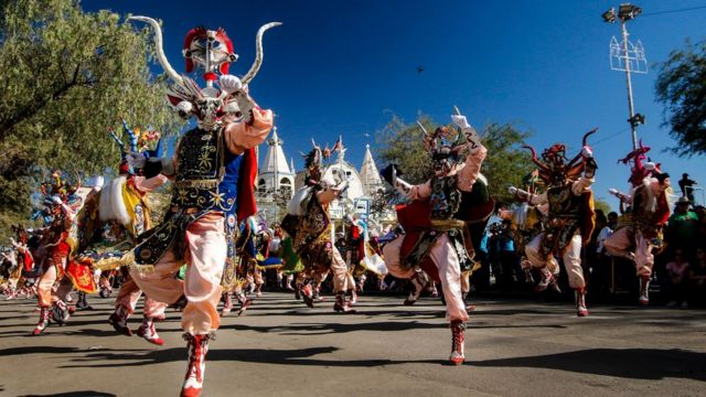Un carnaval en el norte de Chile.
