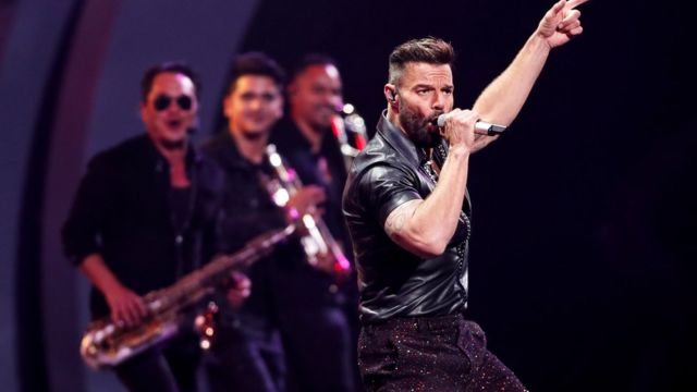 Ricky Martin en el Festival de Viña del Mar.