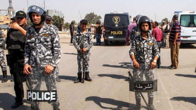 قوات من الشرطة المصرية