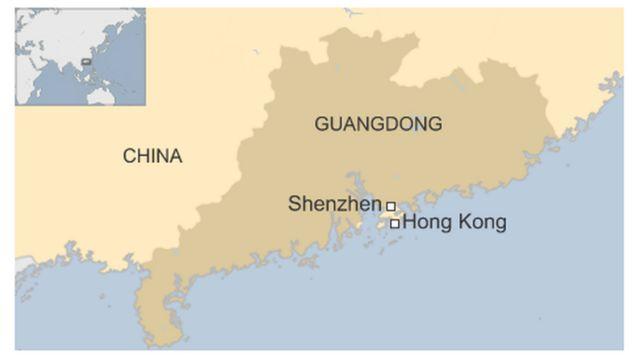 深圳市の位置