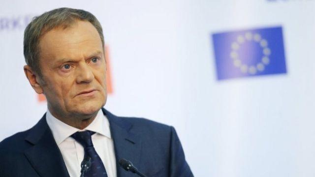 Donald Tusk, presidente del Consejo Europeo.
