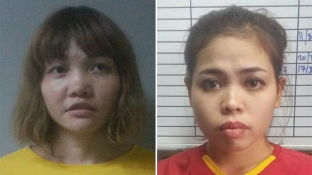 Doan Thi Huong (i bubamfu) na Siti Aisyah bashobora gukatirwa igihano co gupfa bagiwe