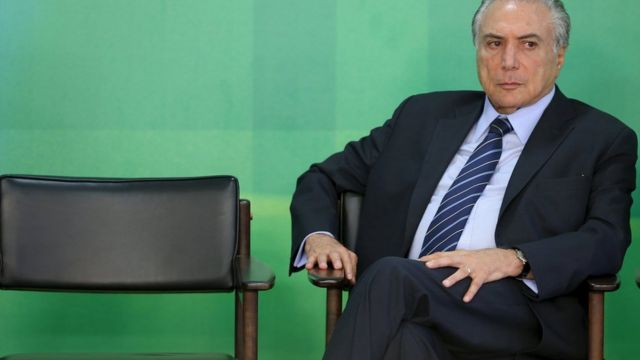 Brazil's Vice President Michel Temer pictured at the Planalto Palace in Brasilia, Brazil, 2 March 2, 2016.