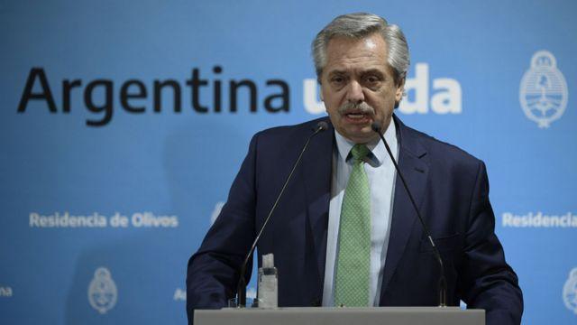 Alberto Fernández anuncia la cuarentena obligatoria, el 19 de marzo de 2020