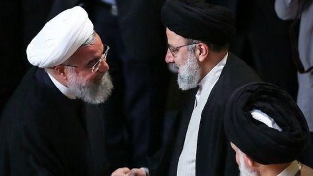 ابراهیم رئیسی رئیس آستان قدس و حسن روحانی رئیس جمهور