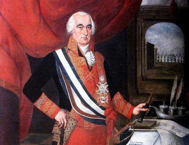 Portrait of José Fernando de Abascal by artist Pedro Díaz