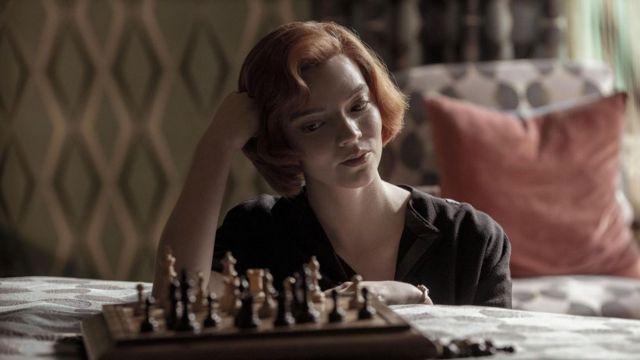 Xadrez, cena da série 'O Gambito da Rainha'