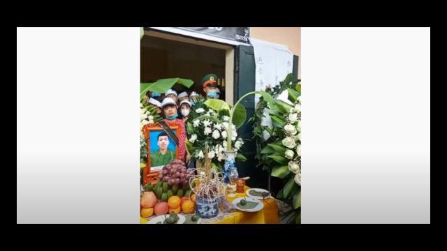 Hình ảnh lễ tang anh Trần Đức Đô, được đưa lên mạng internet