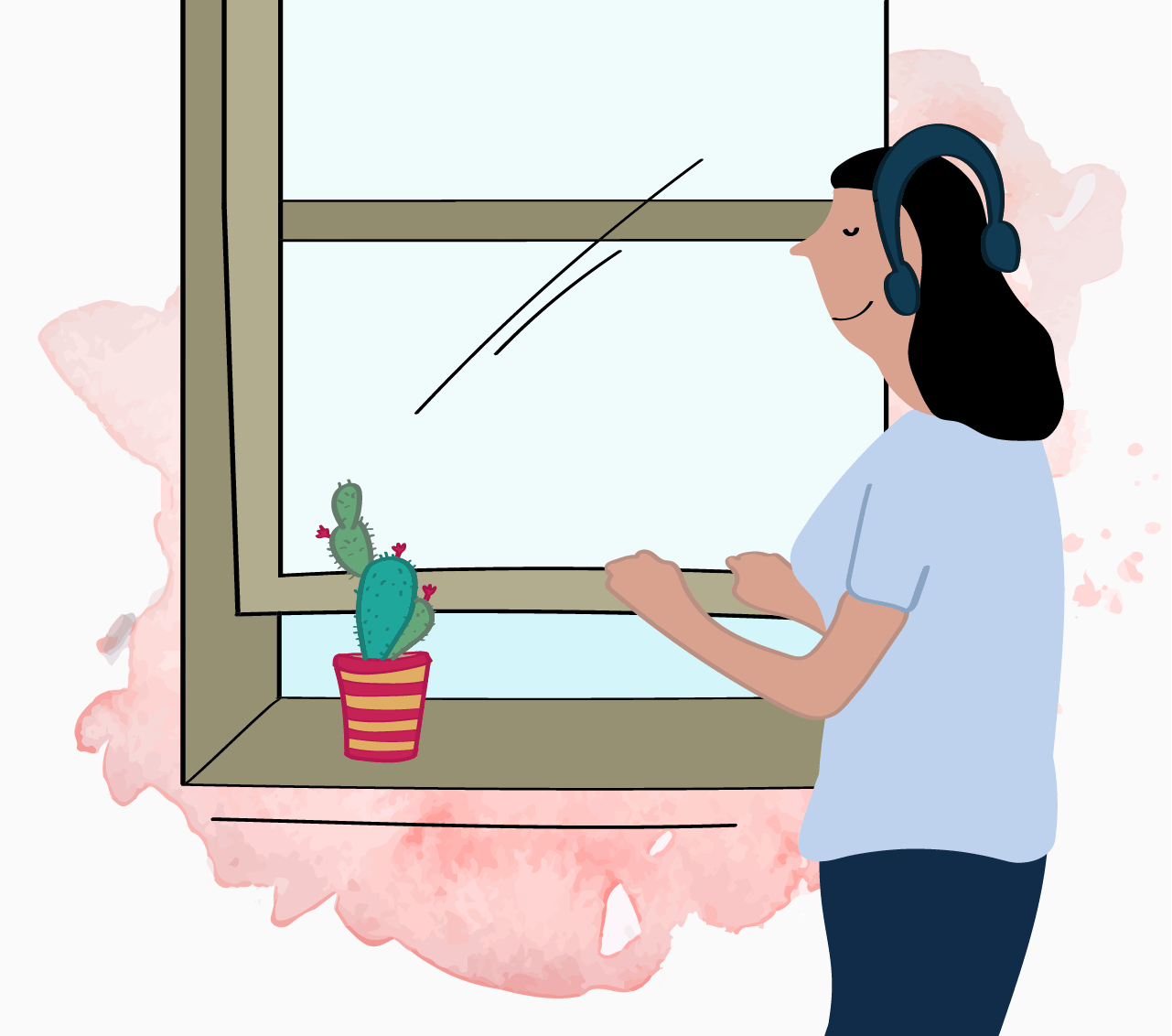 Illustration of shutting out the noise