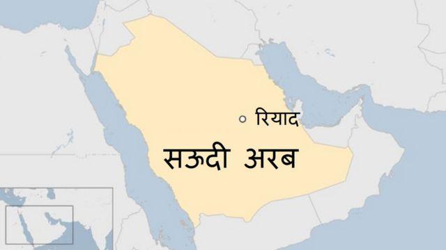सऊदी अरब का नक्शा