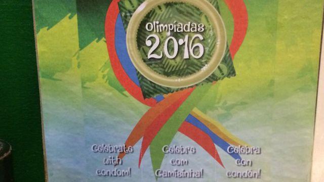 Panfleto de distribuição das camisinhas