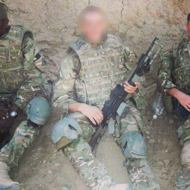 Ben Baker in Army gear