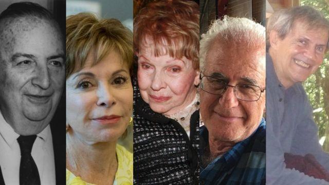 Baruj Benacerraf, Isabel Allende, Sofía Ímber, Víctor Penchaszadeh y Rodrigo Arocena