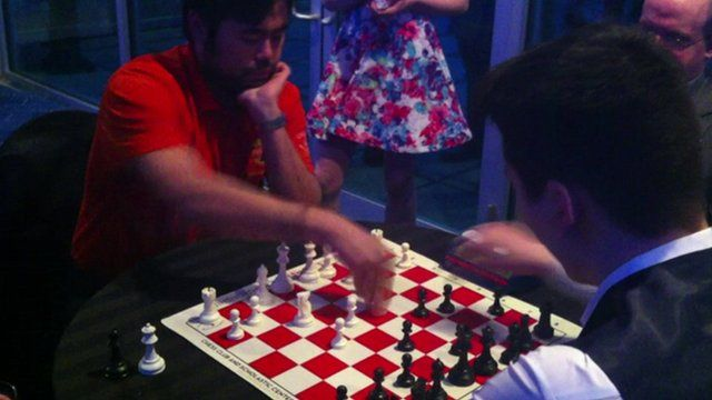 Bullet chess players in action in St Louis