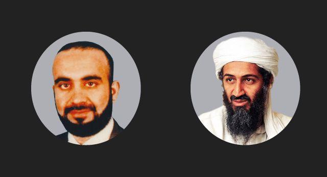 Montaje de fotografías de Khalid Sheikh Mohammed y Osama Bin-Laden