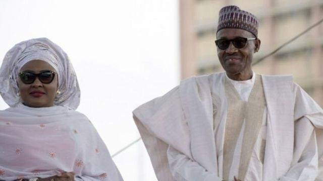 Shugaba Muhammadu Buhari da matarsa Aisha Buhari