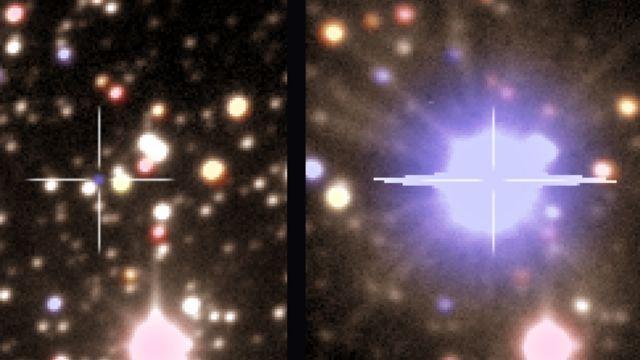 Explosão de estrela observada em maio de 2009