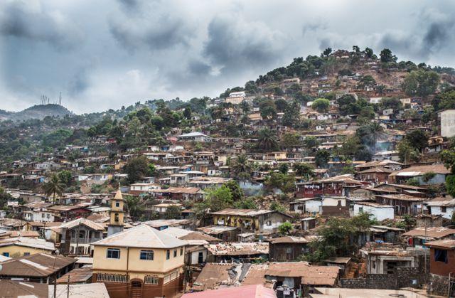 Mabinty's neighbourhood in Freetown