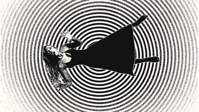 Mujer en la espiral de la depresión