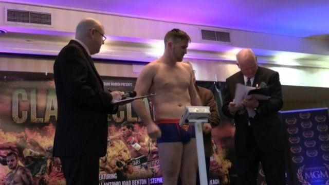 Weigh-in moments before shooting began