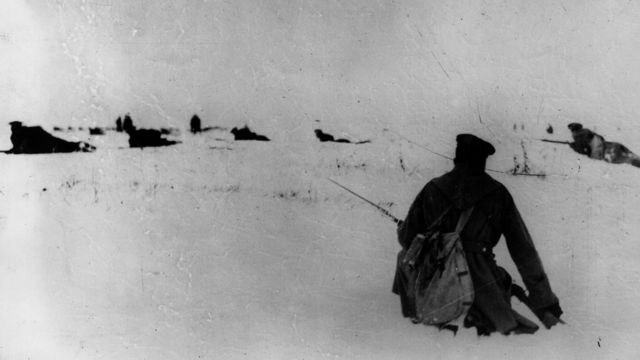 Русские солдаты в бою
